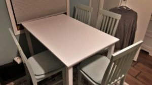 White Kitchen Table Dining Green Chairs Pads for Sale in Lakeland, MN