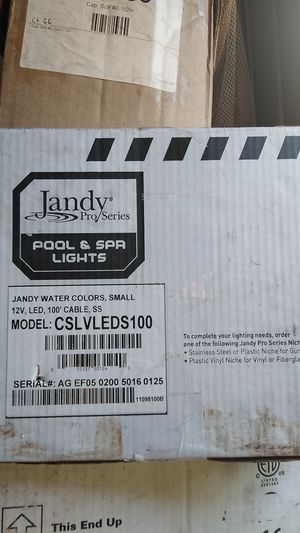 Jandy Pro series pool and spa lights model CSLVLEDS100 for Sale in New Orleans, LA