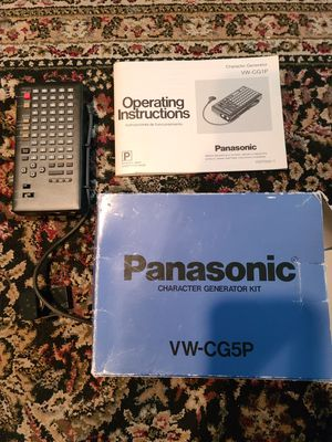 VINTAGE PANASONIC VW-CG5P CHARACTER GENERATOR KIT. For movie camera. Excellent condition for Sale in Larchmont, NY
