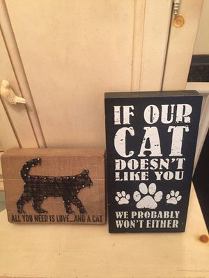 Wooden cat signs for Sale in White Plains, NY