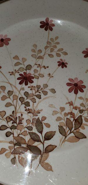 """Vintage"" 1977-1983 - Pink Flowers, Brown Leaves Pattern:Outlook by Noritake (9 Plates) for Sale in Fort Lewis, WA"