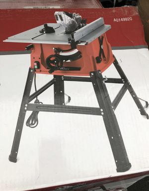 HYPERTOUGH 10in PORTABLE TABLE SAW WITH STAND $125 for Sale in Norco, CA