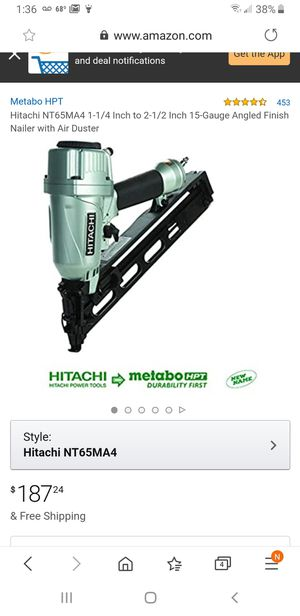 Hitachi nail gun brand new never opened for Sale in Mooresville, IN