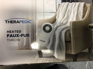 Therapedic® Faux Fur Electric Throw Blanket in White for Sale in Alafaya, FL