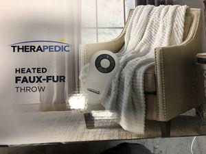 Therapedic® Faux Fur Electric Throw Blanket in White for Sale in Alafaya, FL