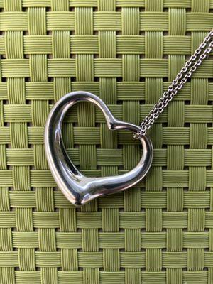Tiffany & Co. Elsa Peretti Open Heart Pendant Necklace for Sale in Miami, FL