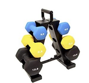 BalanceForm 50 lbs all purpose dumbbell set with rack NIB for Sale in Fairfax, VA