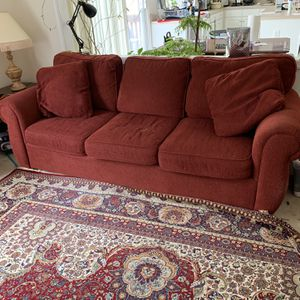 Free Couch, Side Table and Lamp. Must Pick Up Today for Sale in Gibbsboro, NJ