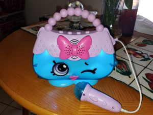 Shopkins Sing Along Boombox W/Microphone for Sale in Peoria, AZ
