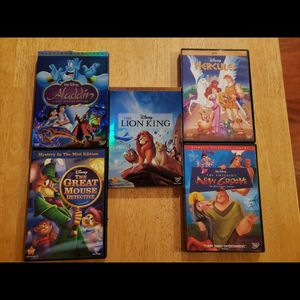 5 different Disney animated movies for Sale in Gresham, OR