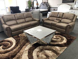 Brown Sofa + Loveseat W/ 1 Year Warranty for Sale in Fresno, CA