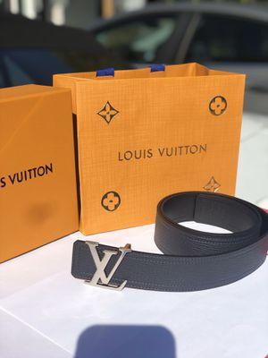 Louis Vuitton men leather belt size 32-38 authentic for Sale in Park Ridge, IL