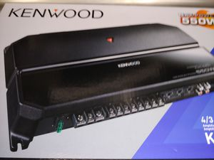 Car amplifier : Kenwood 500 watts 4 channel built in crossover 30 ×1 fuse ( brand new ) for Sale in Santa Ana, CA