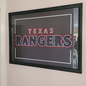 Framed and Lighted Texas Rangers Picture for Sale in Keller, TX