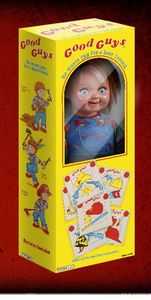Good guy Chucky Doll Life size 1:1 scale TOT Sideshow Brand New sealed / unopened w brown shipper for Sale in Rowland Heights, CA