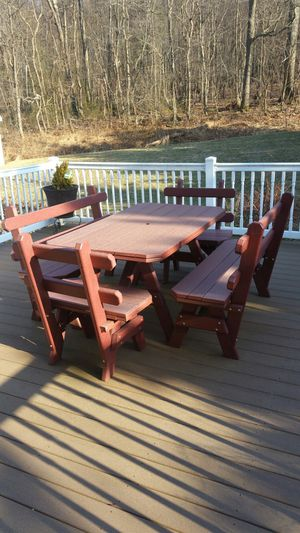 Burgundy outdoor patio or deck furniture for Sale in Waynesboro, PA