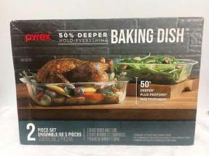 Baking Dish 2 Pieces Set Pyrex Juegos de Vidrio 1309834 for Sale in Miami, FL