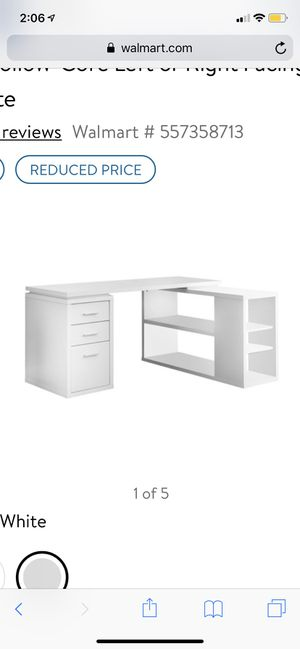New monarch specialities left or right facing corner desk, white for Sale in Dublin, OH