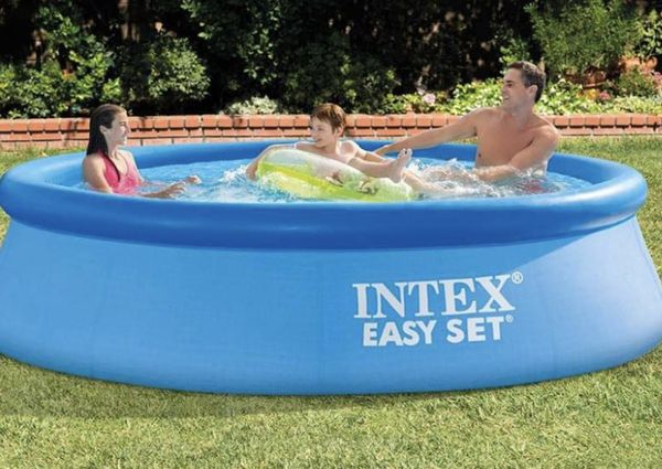 Intex Easy Set 10 Foot X 30 Above Ground Inflatable Pool!
