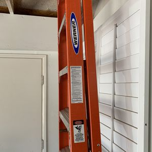 Werner 10' Fiberglass folding ladder for Sale in Apple Valley, CA