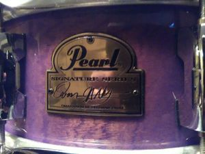 Pearl Omar Hakeem signature snare drum Power Piccolo African mahogany for Sale in Clinton, MD