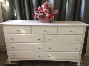 White wood 9 drawer Dresser for Sale in Mesa, AZ