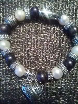Real White and Blue Black Pearl Bracelet for Sale in Henderson, NV