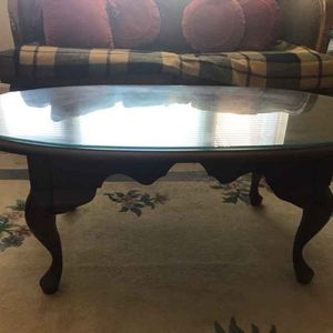 Vintage coffee table with glass cover for Sale in Fairfax, VA