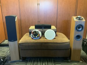 Surround sound system - center, from and rear speakers for Sale in Queen Creek, AZ