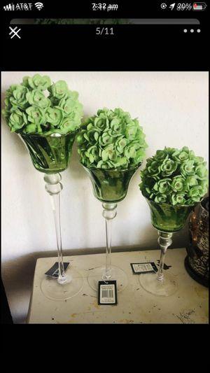 GREEN MERCURY GLASS DECOR for Sale in Crowley, TX