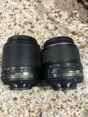 Nikon lenses 55-200mm and 18-55mm for Sale in Newark, CA