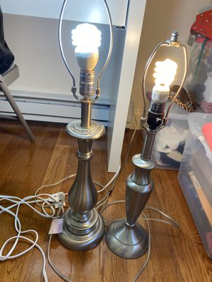 Set of two lamps for Sale in Norton, MA