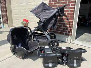 Britax -Stroller, car seat and 2 base Travel System! Like new!! for Sale in Hamilton, OH