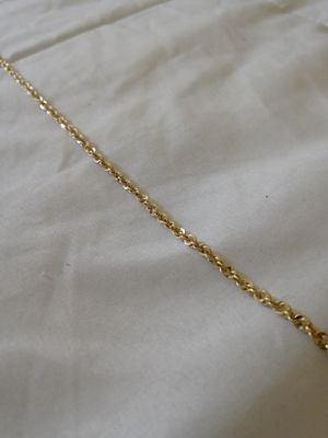 14 k Gold rope chain (real 14k Gold) for Sale in Randolph, MA