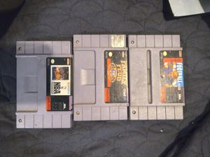 Super nintendo 3 game lot for Sale in Kent, WA