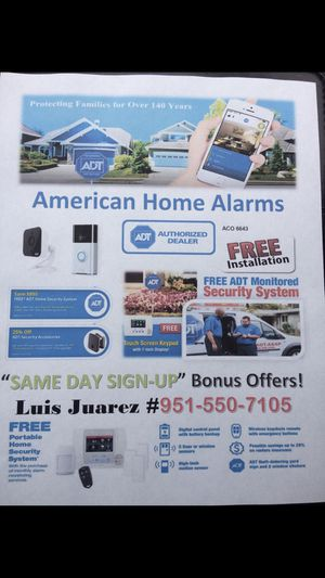 Alarm system and camera for Sale in Riverside, CA