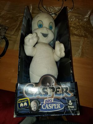 1994 casper the ghost plush toy with glow in the dark eye in box for Sale in Hemet, CA