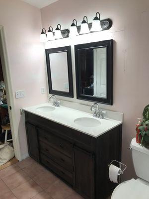 Bathroom vanity and wall mirror for Sale in Vero Beach, FL