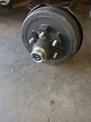 Heavy Duty trailer axle ( 5200 # Capacity ) with brakes for Sale in Dallas, TX