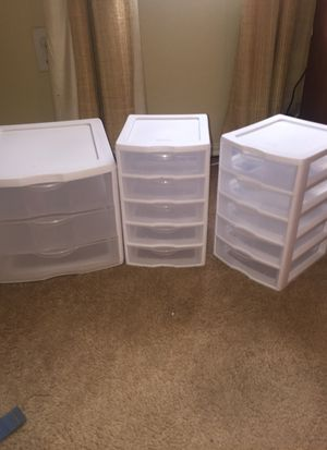 Mini plastic Drawers for Sale in Fort Worth, TX