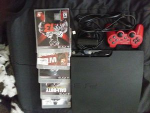 Plystation 3 with 10 game 1 controller and video vamera for Sale in Fresno, CA