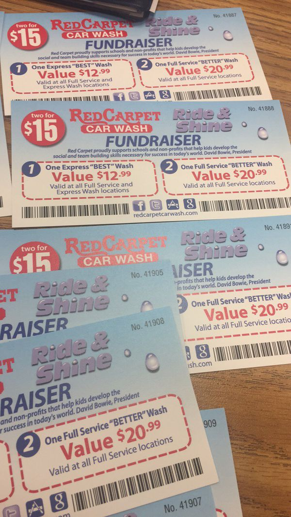 Car Dealerships In Fresno Ca >> Red Carpet car wash fundraiser coupon $15 for Sale in ...