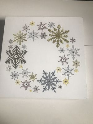 Snow Flake Wall Hanging with Lights for Sale in Rockville, MD