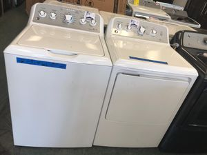 NEW GE TOP LOAD WASHER AND DRYER ELECTRIC SET WITH ONE YEAR WARRANTY for Sale in Lake Ridge, VA