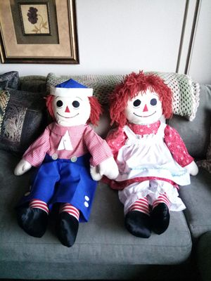 "Vintage Handmade 36"" Raggedy Ann and Andy Dolls for Sale in Irvine, CA"