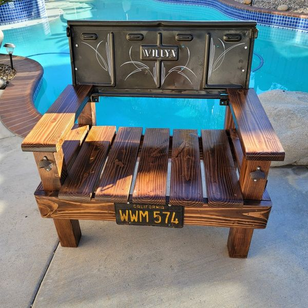 Custom Made Bench. Willy's / Jeep