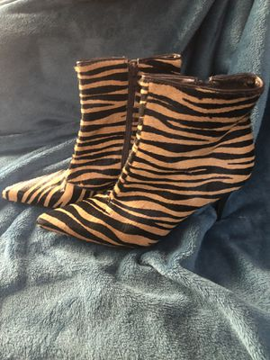 Zebra boots never worn! for Sale in New Port Richey, FL
