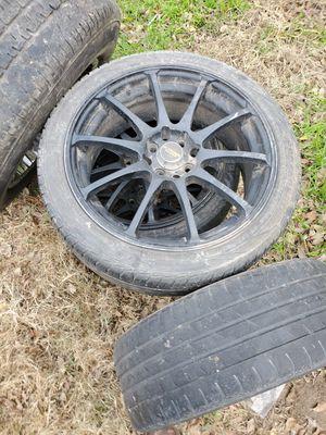 Ford Universal 4 bolt pattern black rims for Sale in San Antonio, TX