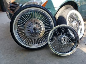 "21"" ABS DNA rim avon Tire 18"" stock rim With Dunlop tire 18"" stock rim Brand new rotors in the front for Sale in Modesto, CA"