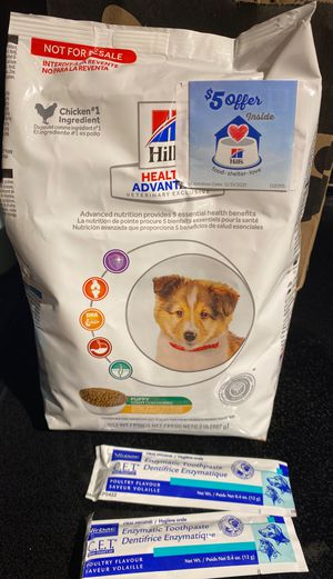 Free puppy welcome bag (puppy food and toothpaste) for Sale in Denver, CO